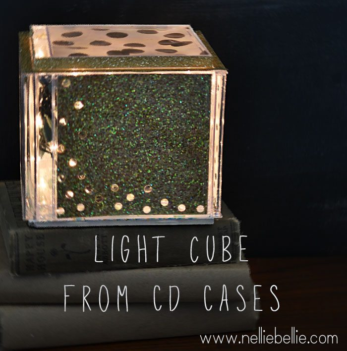 This DIY light cube made from CD cases is simple and fun! A great weekend project!
