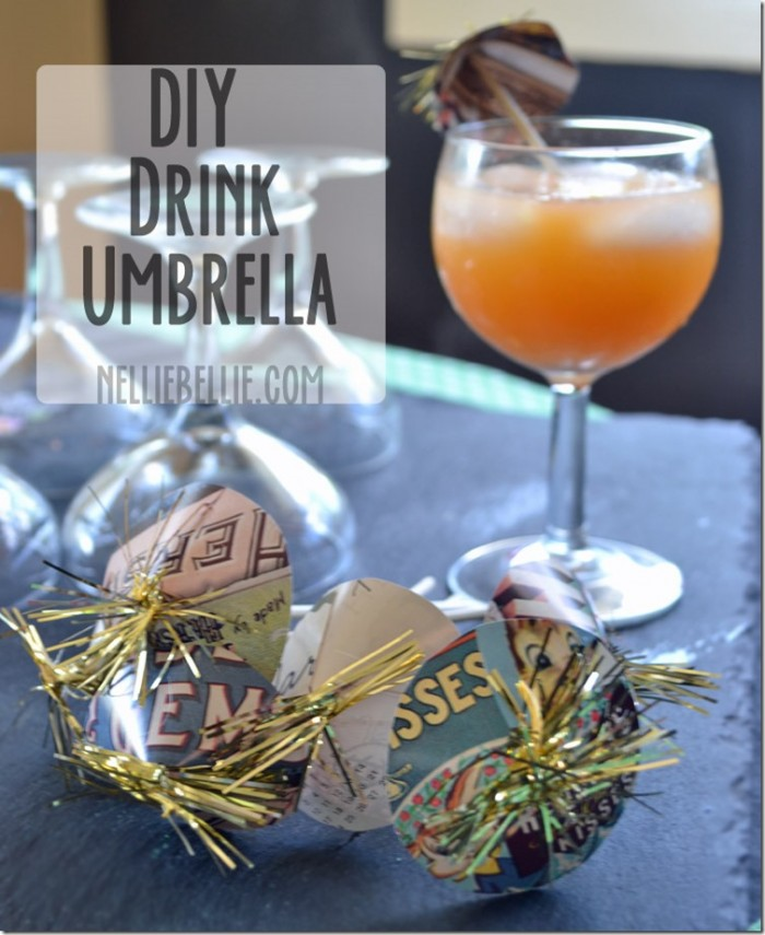 Make your own drink umbrella's with simple paper and toothpicks. A great party idea!