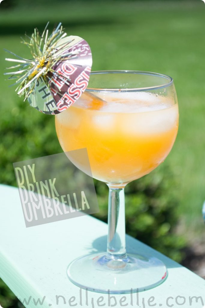 Make your own drink umbrella's: so easy and fun to personalize!