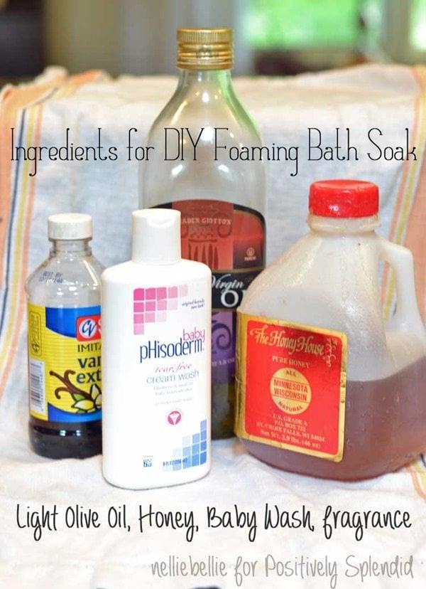 ingredients for diy bath soak
