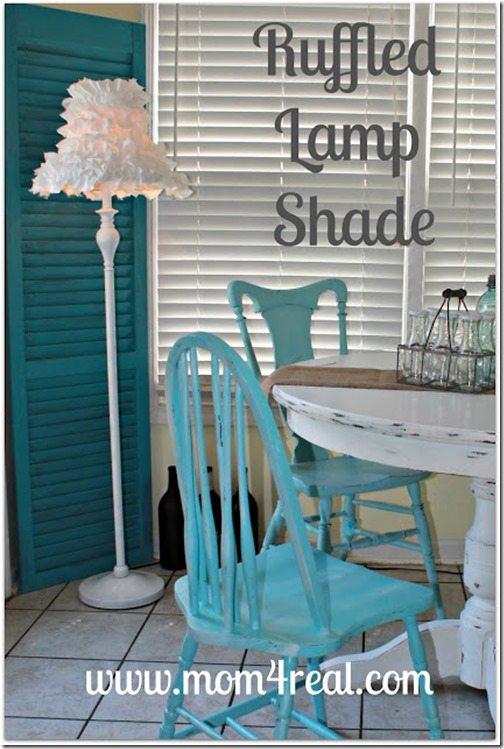 Ruffled Lamp shade from Mom 4 Real