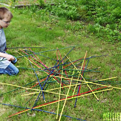 How to make yard pick-up sticks.