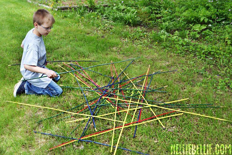 How to make yard pick-up sticks.
