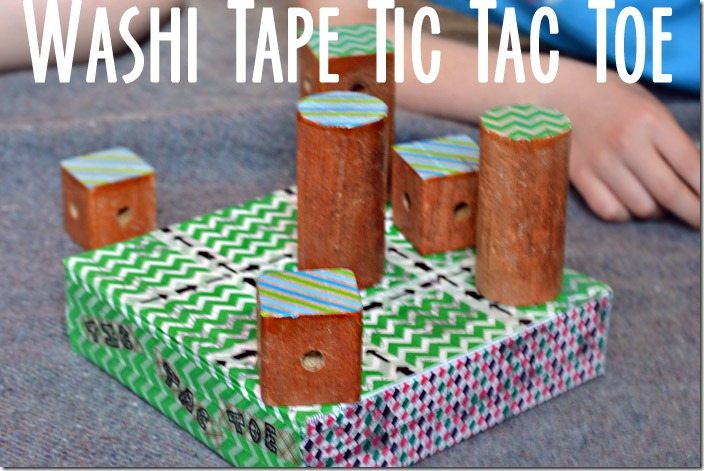 washi tic tac toe. a portable diy version