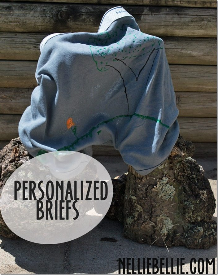 personalized briefs: a great Father's Day gift idea for children to do themselves!