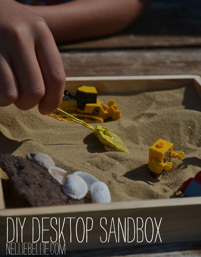 A mini sandbox...how cute! A great idea!