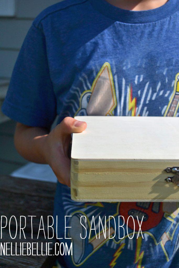 Make a portable sandbox. A great gift idea!