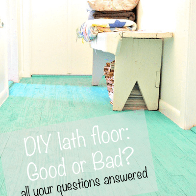 The lath floor: did it hold up?