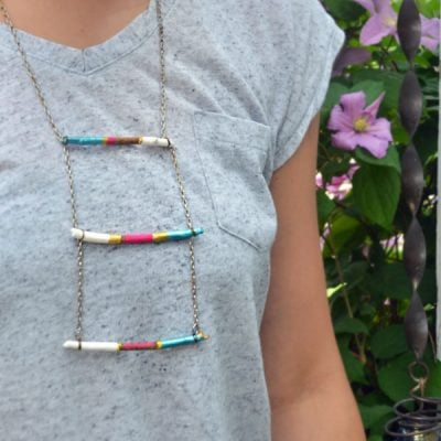 waterfall necklace.