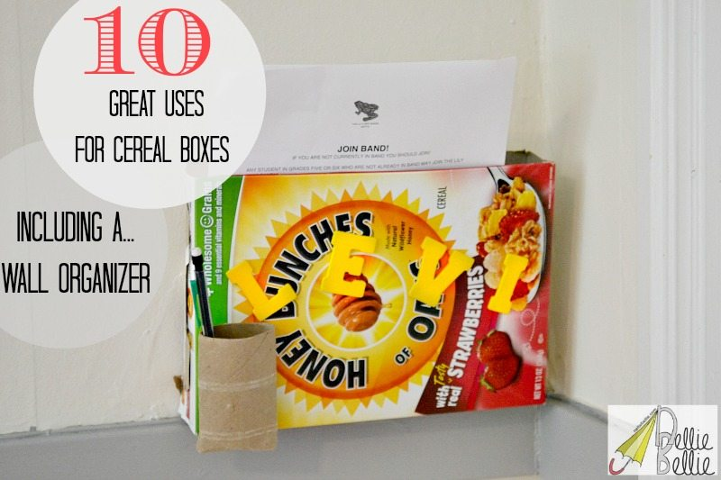 10 uses to repurpose cereal boxes in crafts, organizing, and more!