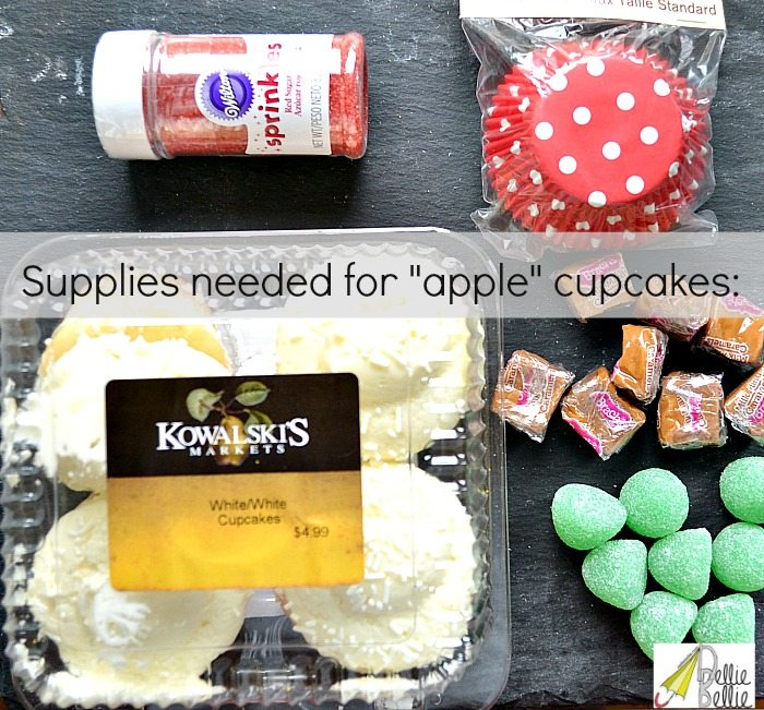 apple cupcakes supplies