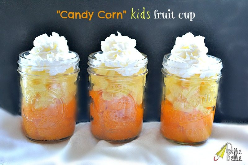 Quick & Healthy | candy corn fruit cup