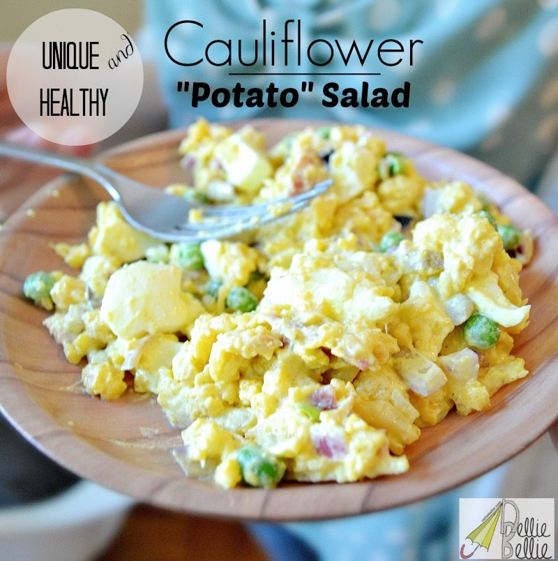 Healthy cauliflower potato salad