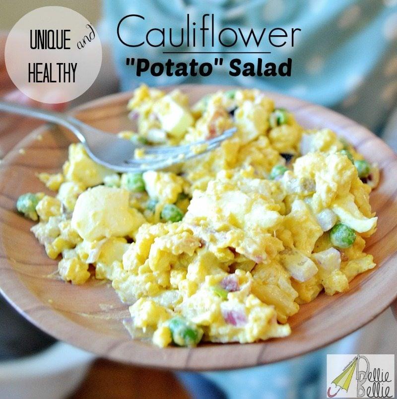 Healthy cauliflower potato salad and it's soo delicious!