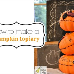 how to make a pumpkin topiary