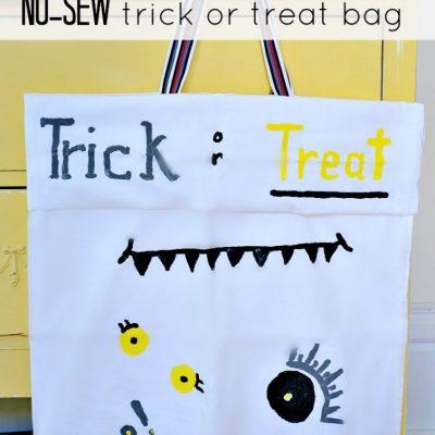 How to make a trick or treat bag (no-sew)