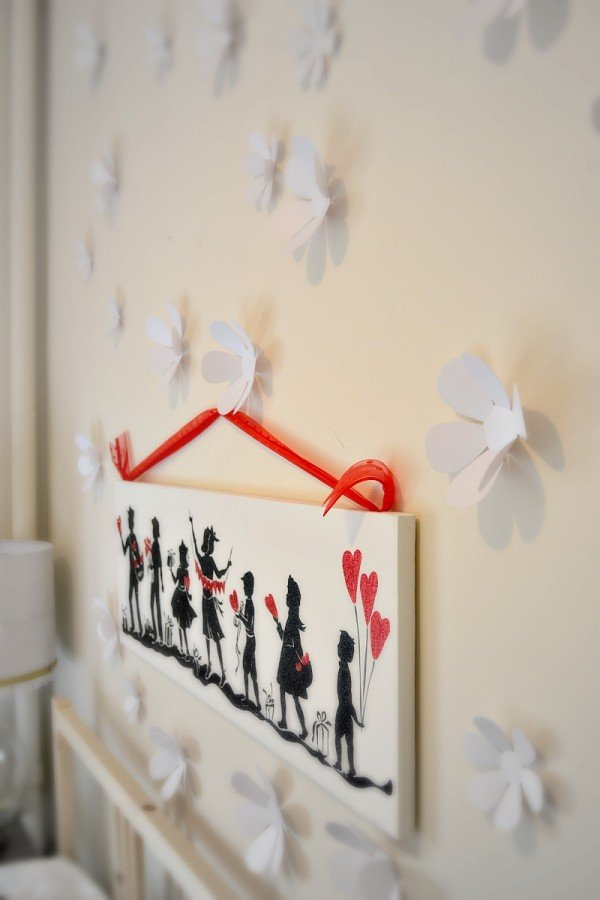 3d wall art is a fun way to spice up a wall in a rental!