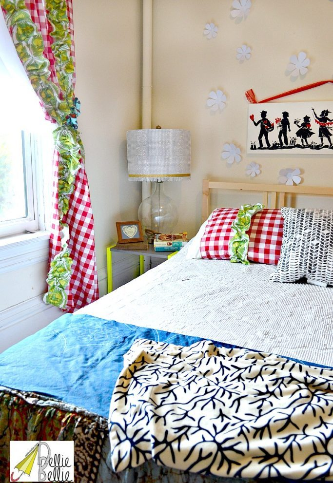 colorful bedroom.
