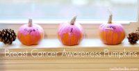 How to make breast cancer awareness pumpkins (video tutorial)
