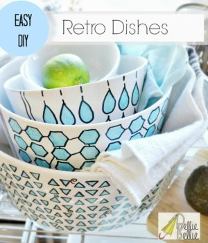 These painted bowls really give new life to tired dishes.