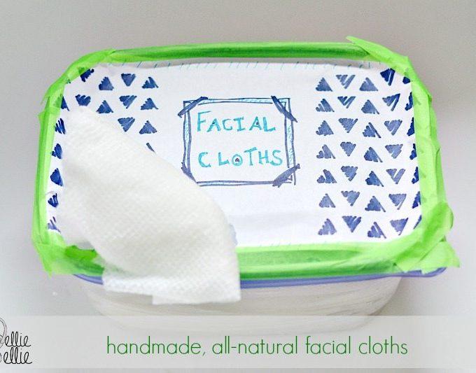 Homemade facial wipes from nelliebellie.com