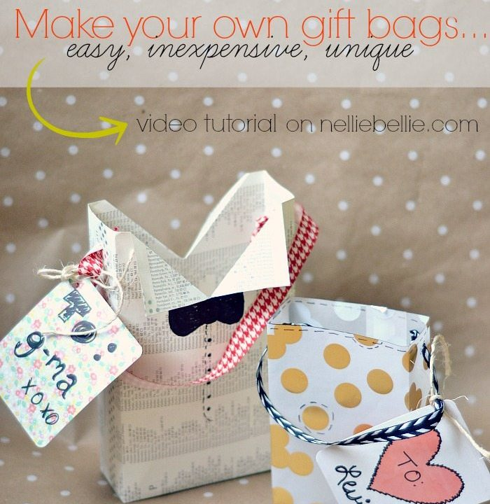 How to make a gift bag | gift bag tutorial | NellieBellie #giftbag #diy #craft