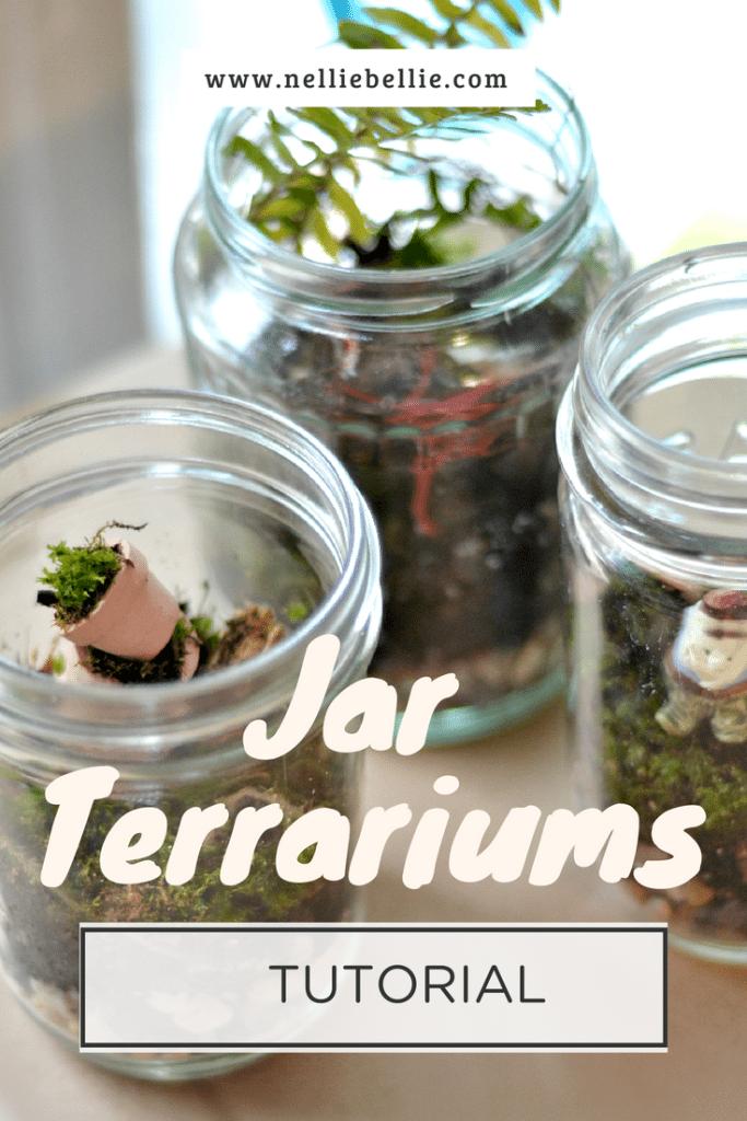 How to make a terrarium in a jar. A terrarium diy tutorial!
