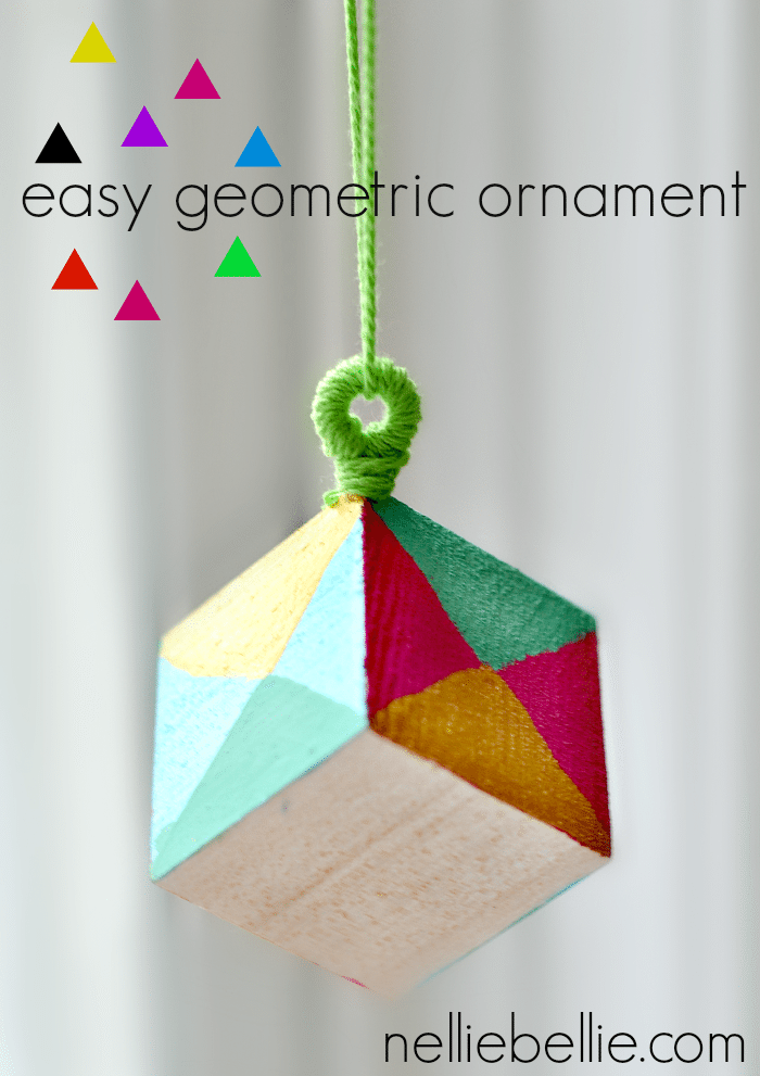 Make a modern and fresh geometric ornament! Easy to make and a great gift to give!