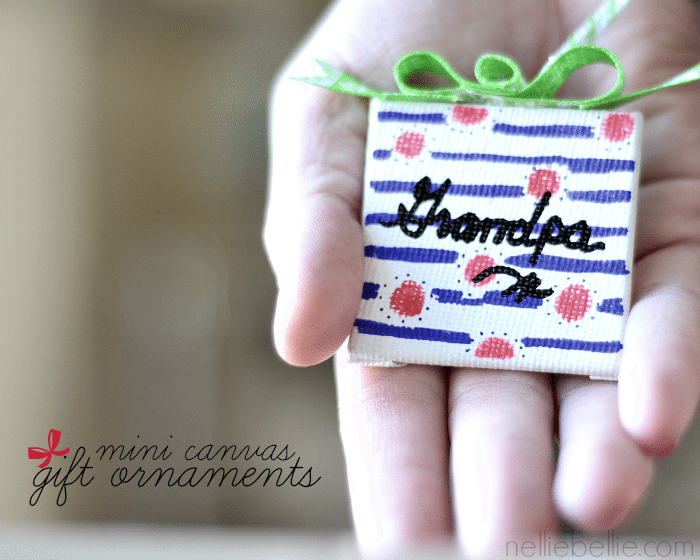 Gift ornaments. Easy to make with mini ornaments and Sharpies!//NellieBellie