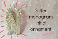 How to make a monogram ornament.
