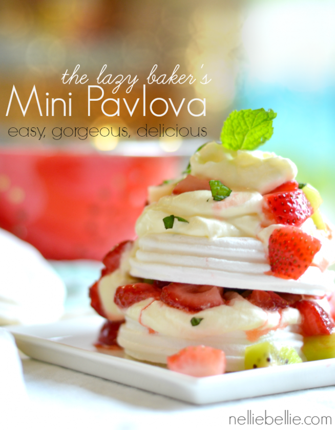 mini pavlovas are so easy to make with pre-packaged meringue cookies!