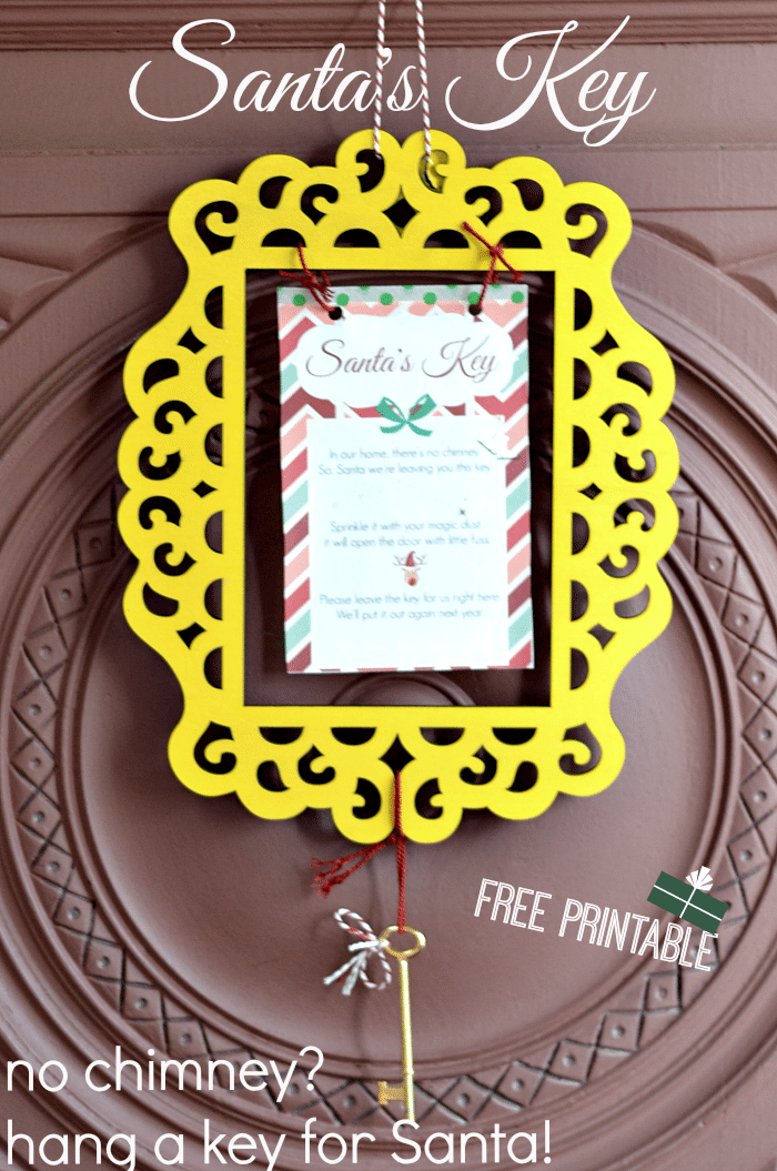 Simple steps to create Santas key with free printable image//NellieBellie