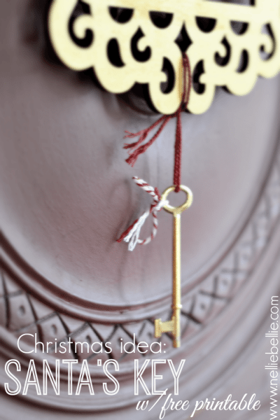 How to make Santa keys (free printable)