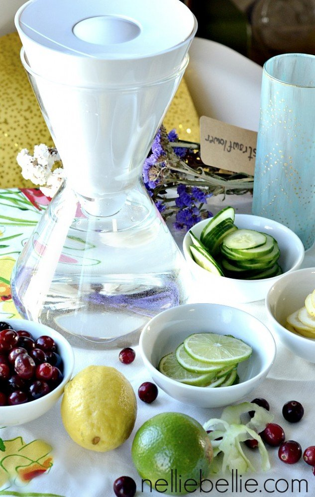 a great beverage option for a party. Quick & easy water bar!