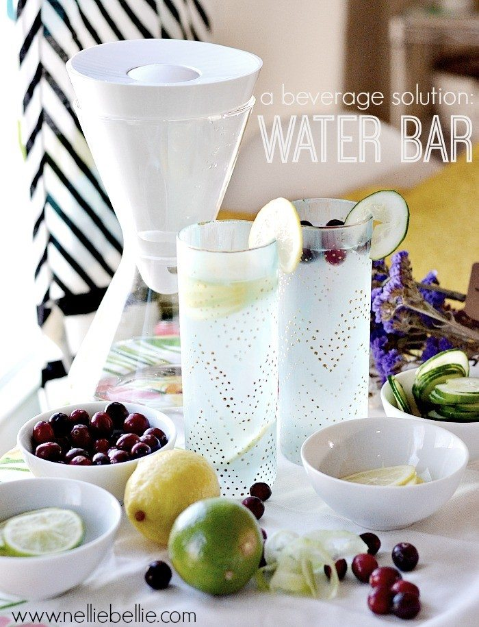 a waterbar is a great beverage idea for the holidays! @somawater