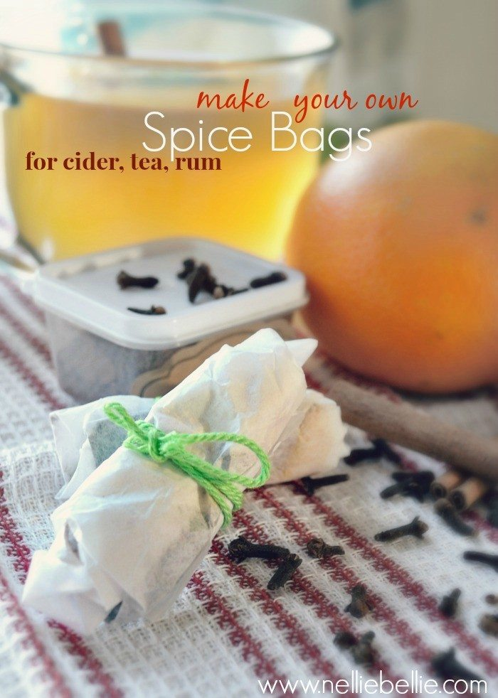 Homemade spice bags | tutorial | from NellieBellie #spicebag