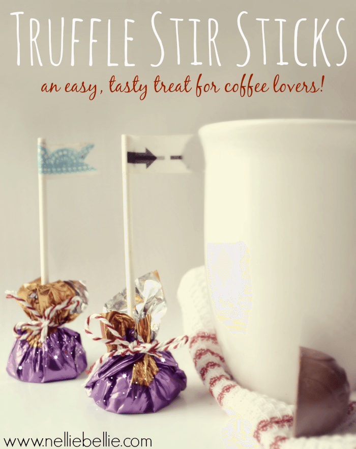 Homemade chocolate stir sticks...you won't believe what the secret ingredient is that makes these so easy! from NellieBellie