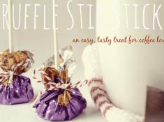 Chocolate Stir Sticks, a tutorial from nelliebellie.com