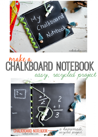 How to make a chalkboard notebook