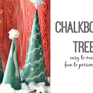 chalkboard trees for Christmas