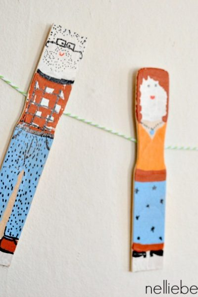 How to make dolls from paintsticks