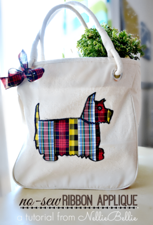 This cute ribbon tote is super easy to make!