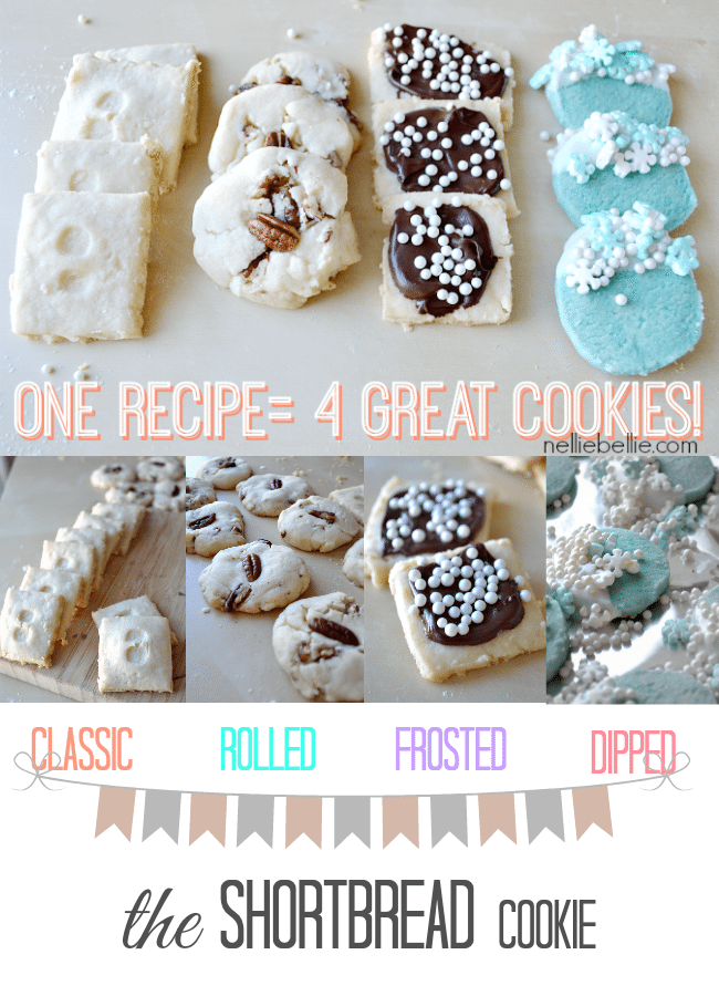 A great homemade shortbread cookie can have so many variations with just a couple additional steps!
