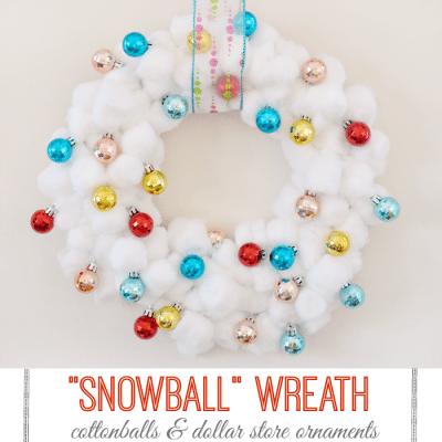 cottonball Christmas wreath