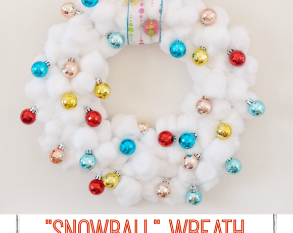 White Christmas Wreath | This snowball wreath is easy to make and is a fun, bright twist on traditional decorations.
