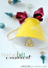 How to Make a Teacup Bell Ornament