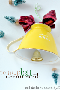 Make a teacup bell ornament with this easy tutorial.