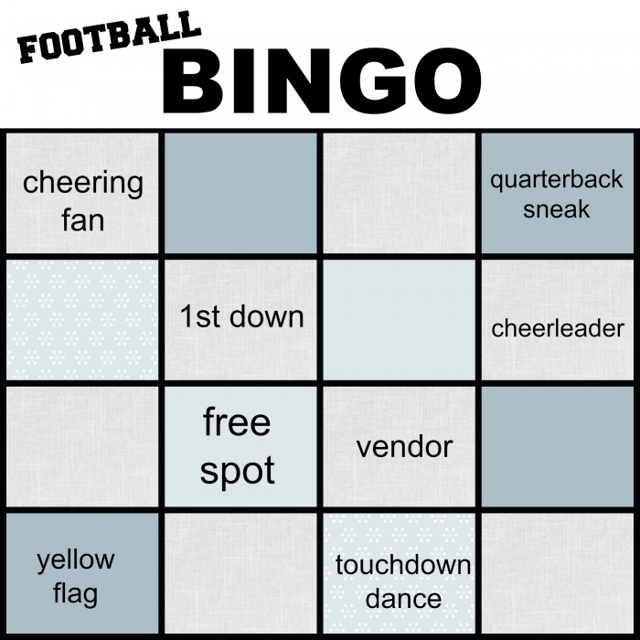 football bingo free printable #GameTimeGoodies, #shop, #cbias NellieBellie