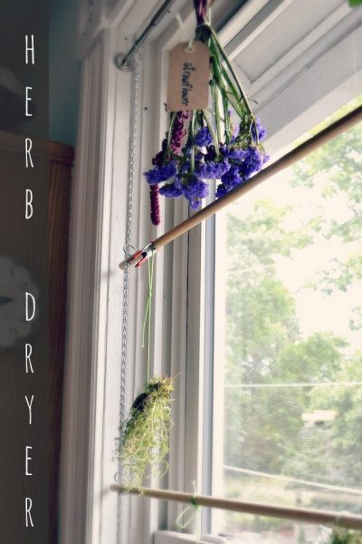 How to make a herb dryer for the window