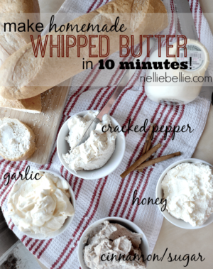 This is amazing! Make homemade whipped butter in 10 minutes. So fast and easy!!
